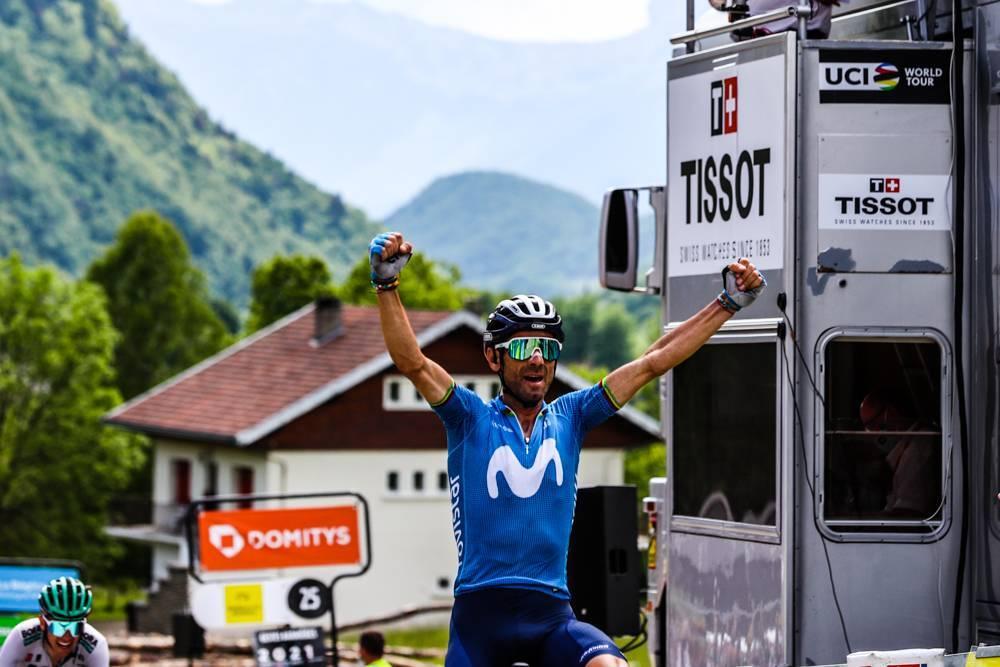 Alejandro Valverde. Dauphine 2021. Foto Dauphine.