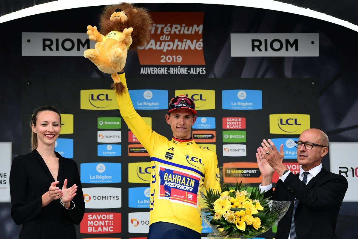 Criterium du Dauphiné 2019 - 11/06/2019 - Etape 3 - Le Puy-en-Velay / Riom (177 Km) - Dylan TEUNS (BAHRAIN - MERIDA) - Avec le maillot Jaune