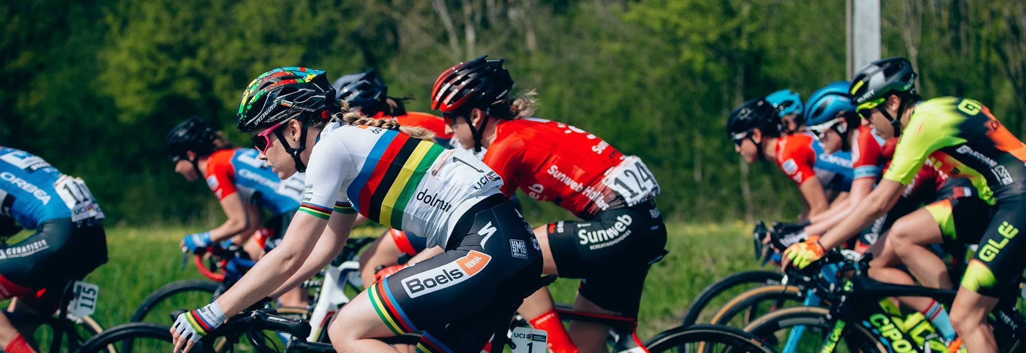 Header: DOLTCINI - VAN EYCK SPORT UCI WOMEN CYCLING
