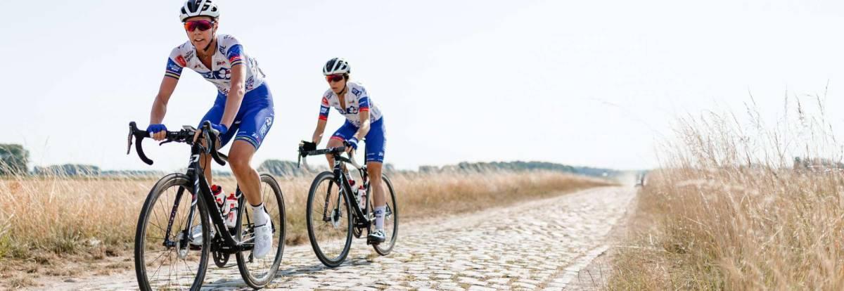 Las chicas de la FDJ en Roubaix