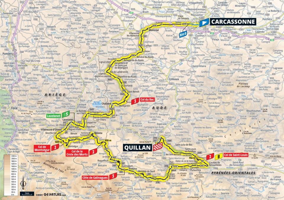 14. etapa Tour de France 2021 trasa
