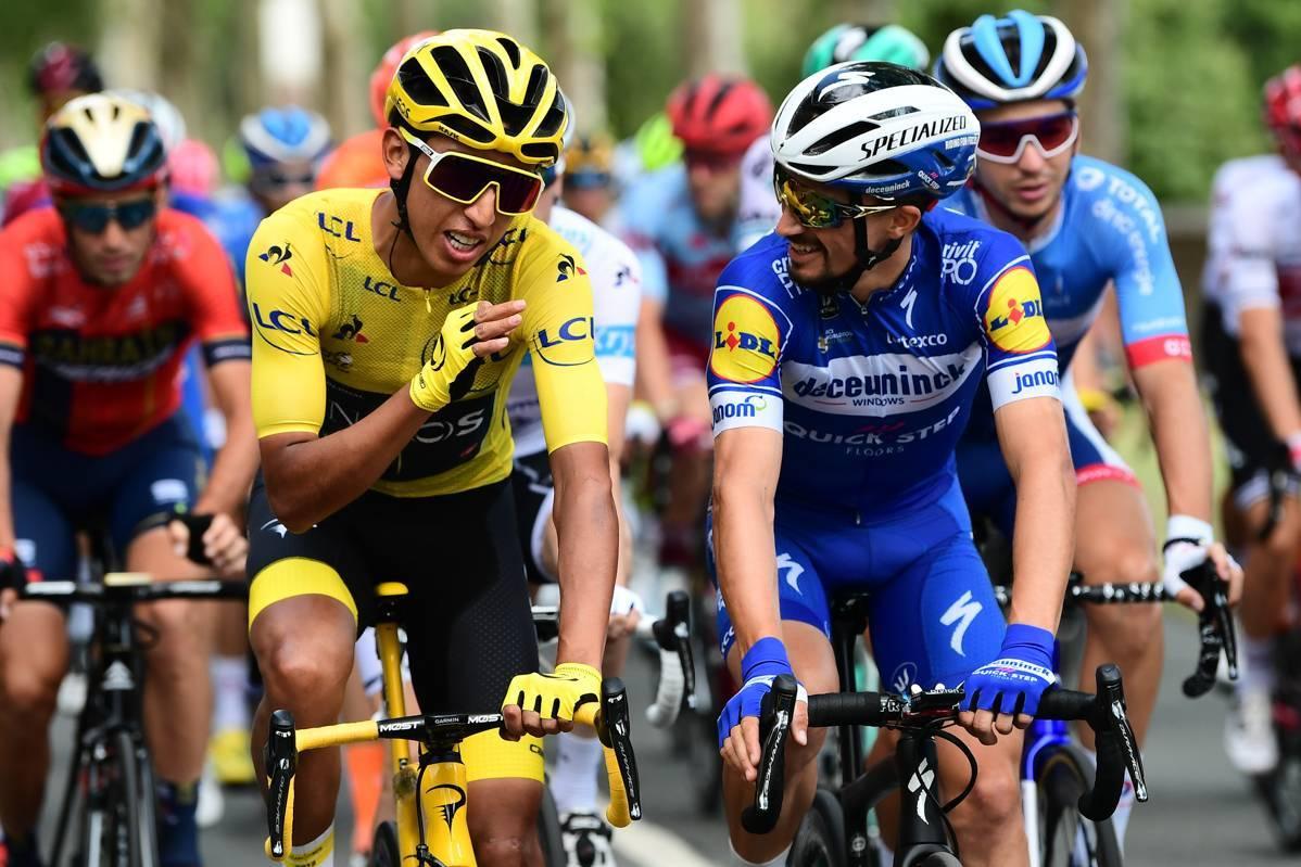 Tour de France 2019 - 28/07/2019 - Etape 21 - Rambouillet / Paris Champs-Elysées (128 km) - Egan BERNAL (TEAM INEOS) et Julian ALAPHILIPPE (DECEUNINCK - QUICK - STEP)