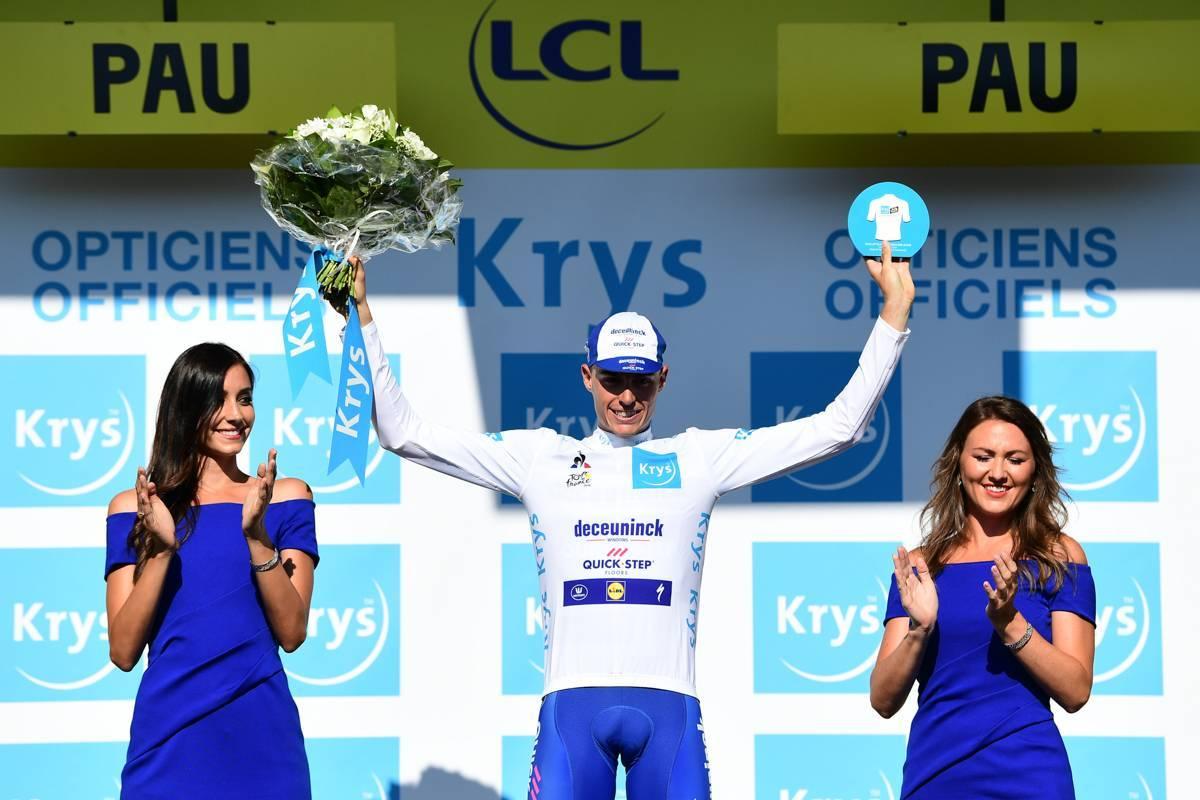 Tour de France 2019 - 19/07/2019 - Etape 13 - Pau / Pau (27,2 Km CLM) - Enric MAS (DECEUNINCK - QUICK - STEP) Avec le maillot blanc