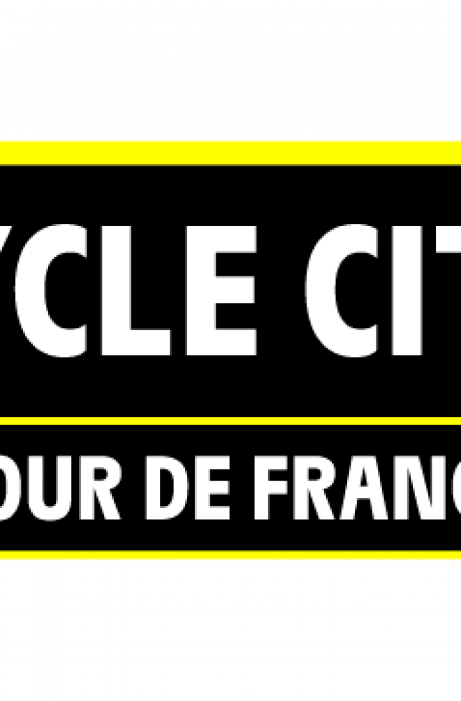 """TOUR DE FRANCE CYCLE CITY"" LABEL: 80 CITIES IN THE PELOTON image"