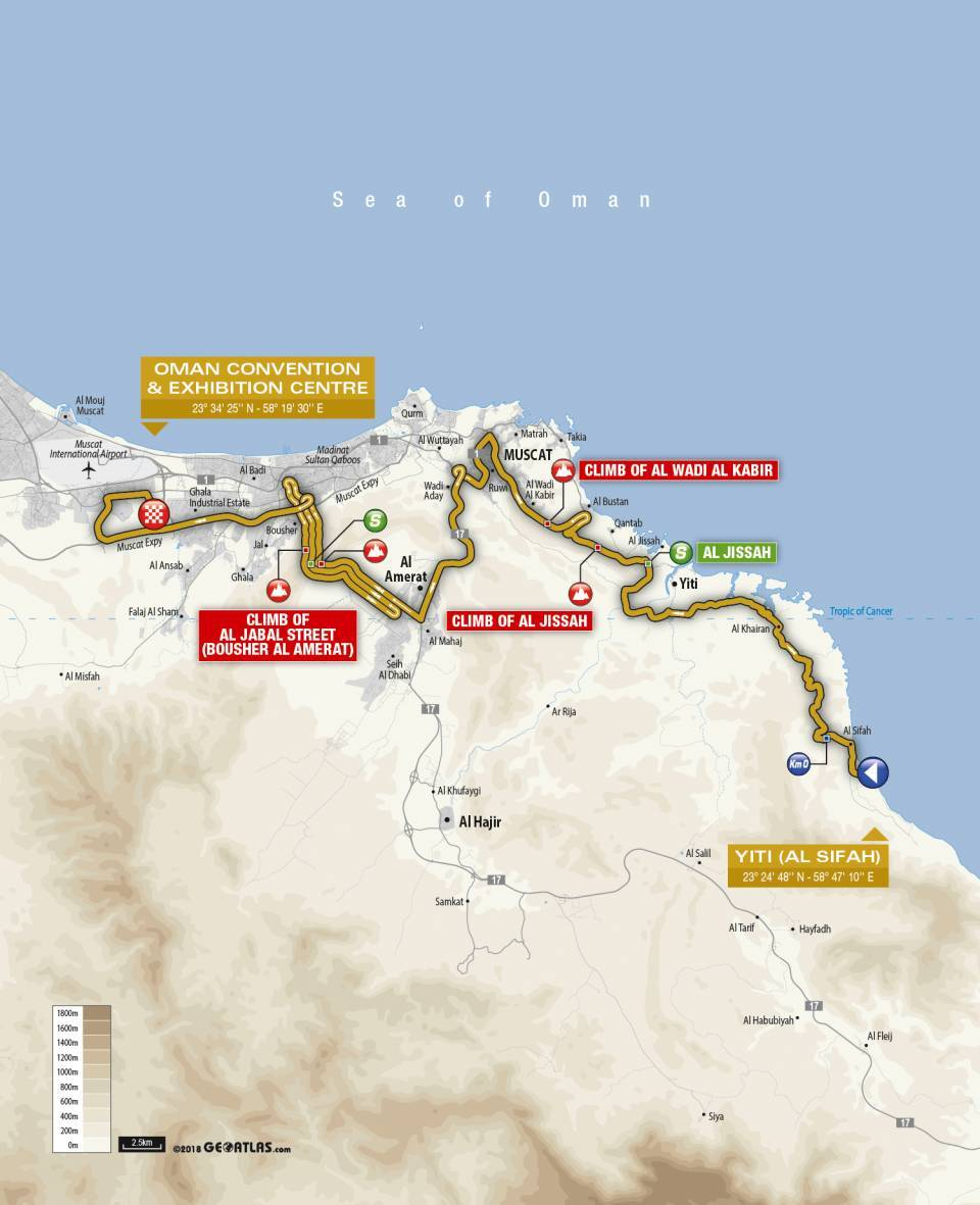 Day 4 Tour of Oman Map