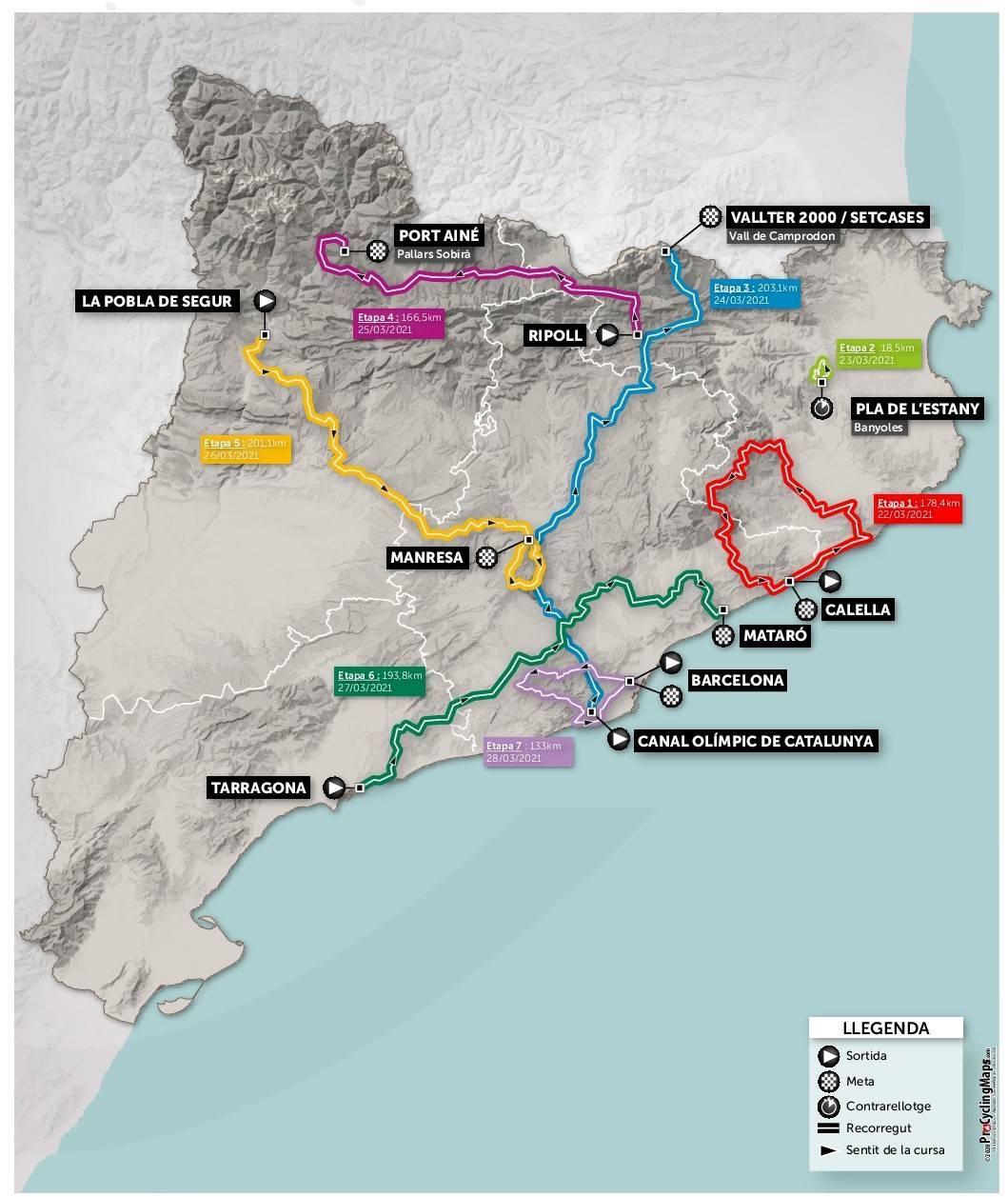 2aeb1 - Volta a Cataluña 2021, la edición centenaria