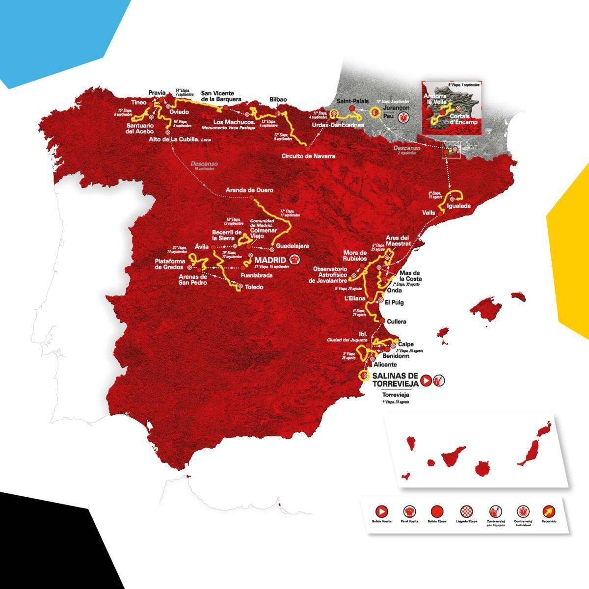 Parcours Vuelta, Tour d'Espagne 2019