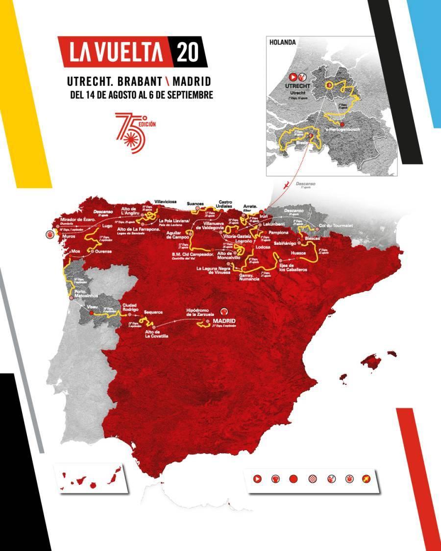 Parcours Vuelta, Tour d'Espagne 2020