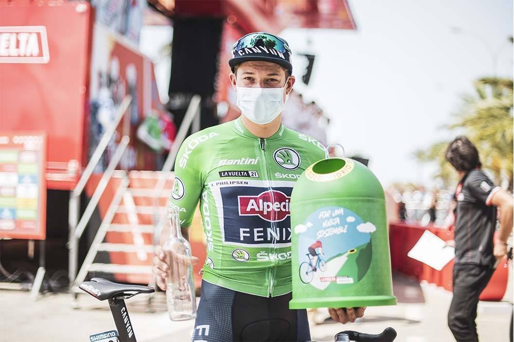 Philipsen ya ha vestido el maillot verde