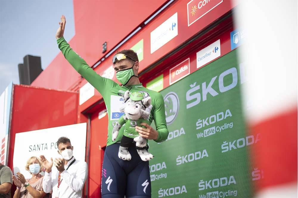 Jakobsen lidera por ahora el maillot verde.
